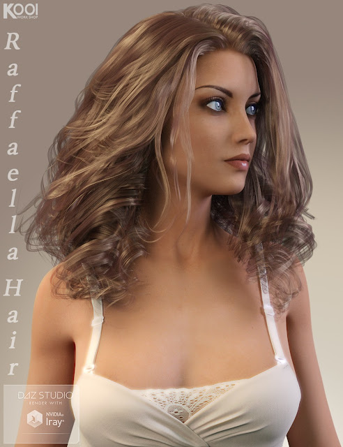 Raffaella Hair for Genesis 3 Female