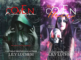 Front covers of the books in THE COVEN SERIES by Lily Luchesi