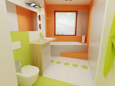 แบบห้องน้ำสีส้ม