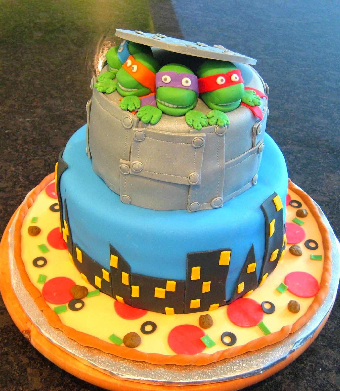 Devanys Designs Teenage Mutant Ninja Turtle Cake