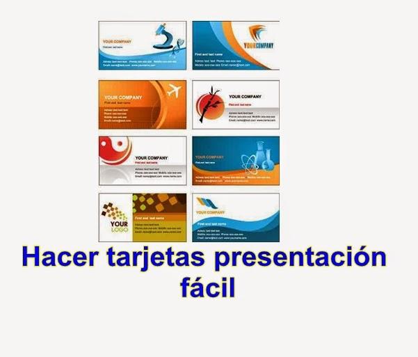 Presentacion Tarjetas Como Gastar Crear Sin De
