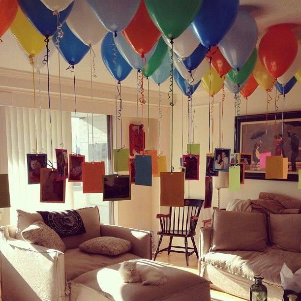 M s y m s manualidades 10 divertidas sorpresas con globos for Cuarto lleno de rosas