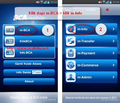 Cara Cek Mutasi Rekening Bca Pakai M Bca Android Walidin