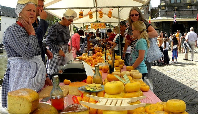 Pasar Keju di Alkmaar, Gouda dan Edam Cheese Market Belanda
