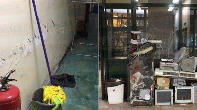 Tριτοκοσμικές εικόνες στις φοιτητικές εστίες της Αθήνας: Σοβάδες πέφτουν, μούχλα και μολυσμένο νερό