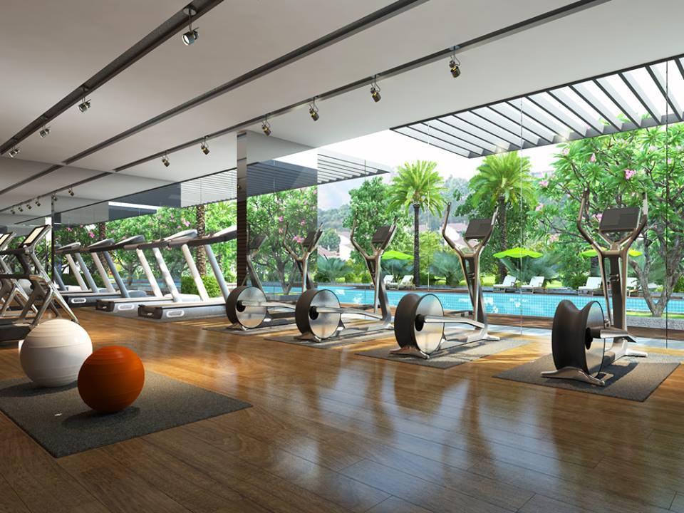 Phòng tập Gym chung cư e2 yên hòa