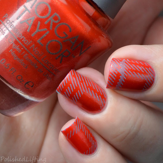 fall flannel inspired nail art