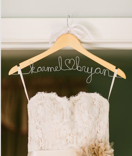 I Love Making Bridal Shower Gifts And One Of My Favorites Is This Personalized Wedding Dress Wire Hanger Pictured Below The First That Made A Few