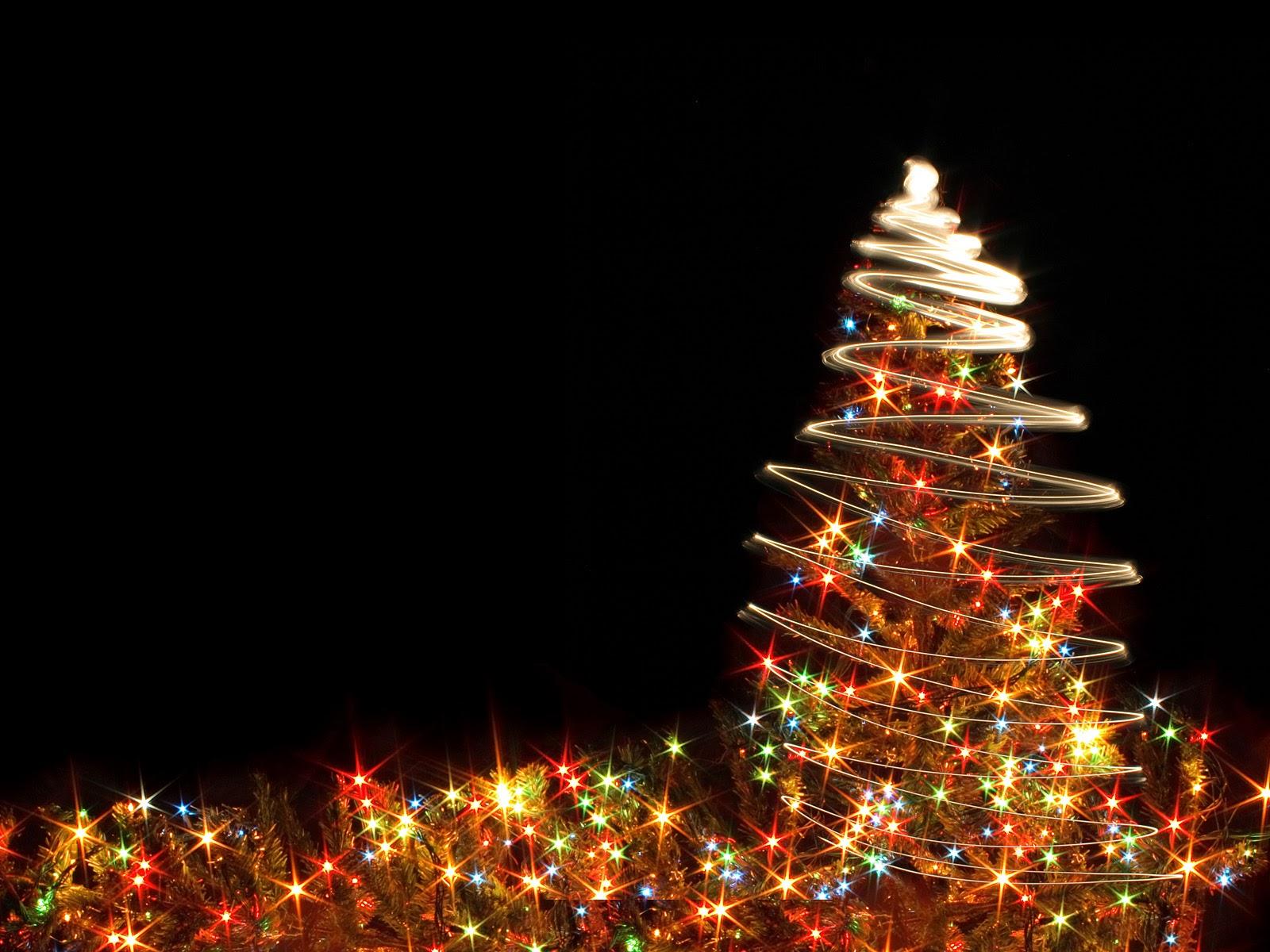 Christmas Tree Lights Wallpaper Hd
