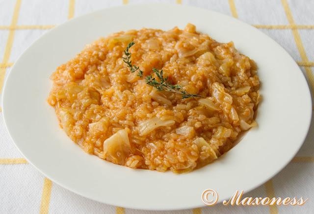 Капуста с рисом. Греческая кухня
