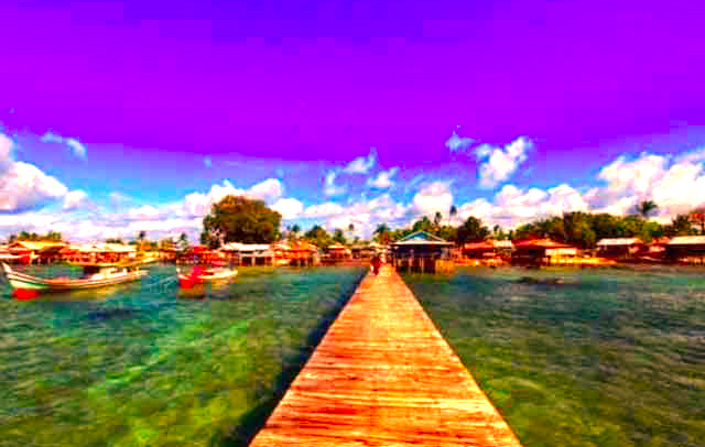 Gambar Pulau Memperak Di Bangka Belitung