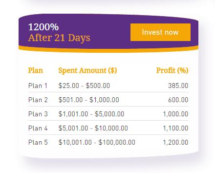Инвестиционные планы Coin Trade Finance 2