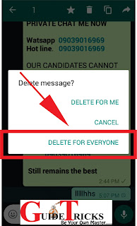 WhatsApp Tricks: how to Delete message that have been sent mistakenly