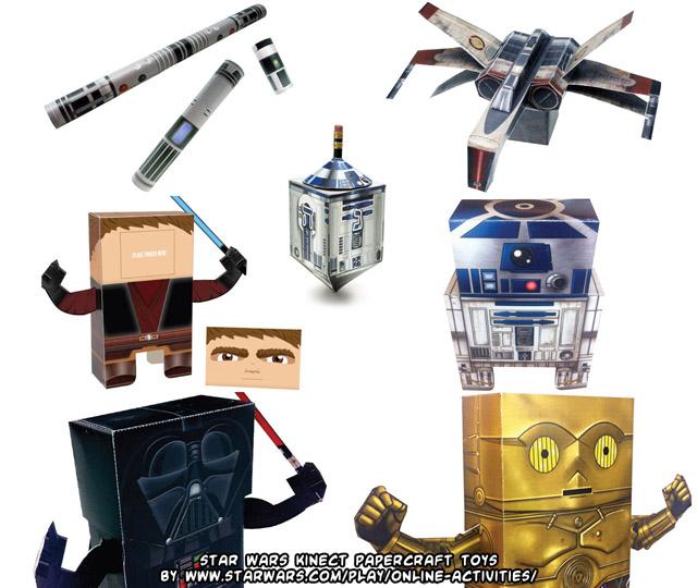 ninjatoes 39 papercraft weblog star wars kinect papercraft toys. Black Bedroom Furniture Sets. Home Design Ideas