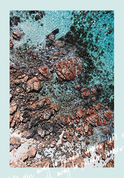 Castle Rock Beach, drone shot