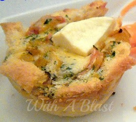 Chicken and Creamy Garlic Bread Baskets