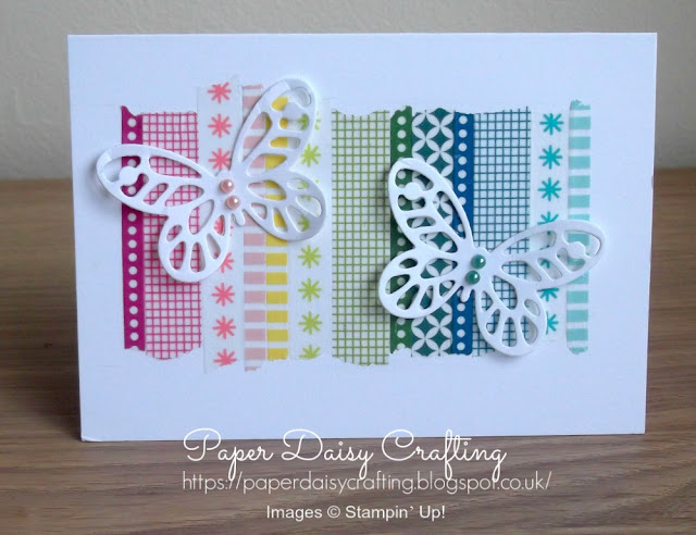 Bold butterflies with washi tape from Stampin' Up!