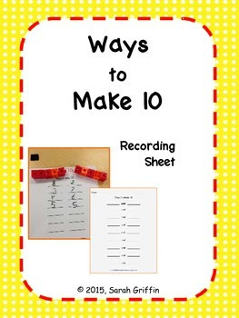 https://www.teacherspayteachers.com/Product/Ways-to-Make-10-Recording-Sheet-1083465