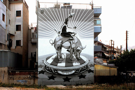 "Dome ""A Journey Through Europe"" New Mural - Ioannina, Greece"