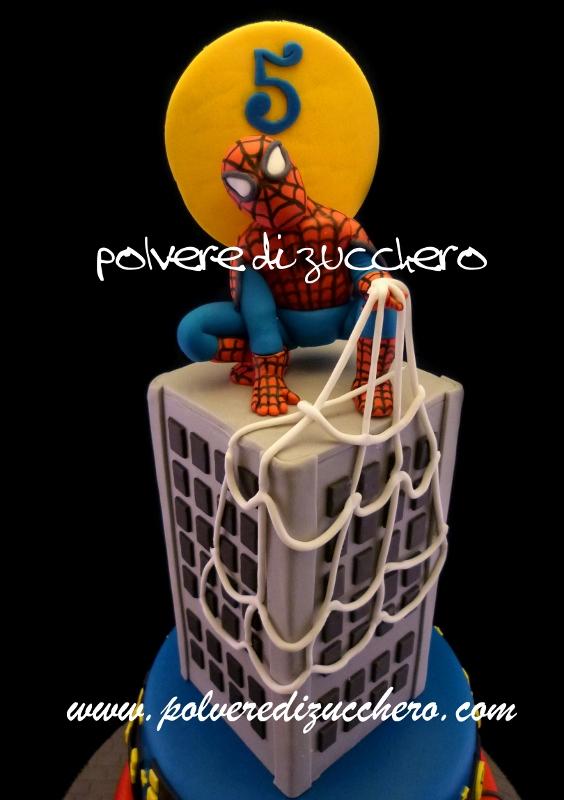 Molto Torta Spiderman 3 piani per il mio bimbo e ricetta crema al  EK33