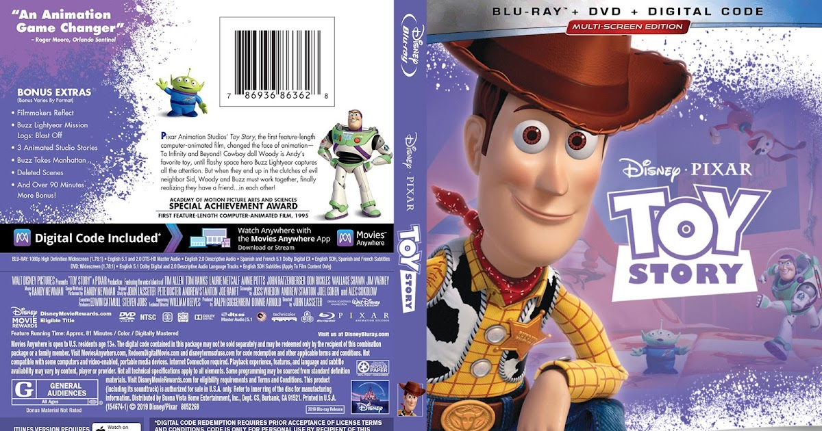 Toy Story Bluray Cover | Cover Addict - Free DVD, Bluray ...