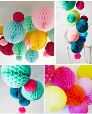 Honeycomb Ball 25 Cm Warna Warni