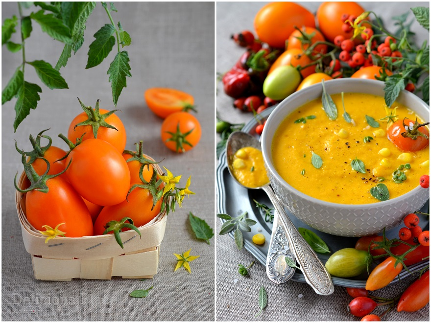 Zupa z pomarańczowych pomidorów