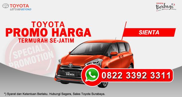 Promo Harga Toyota Sienta Surabaya