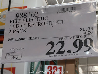 Deal for the Feit Electric LED 6-inch Retrofit Kit at Costco