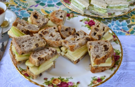 mother's day tea party apple sandwiches