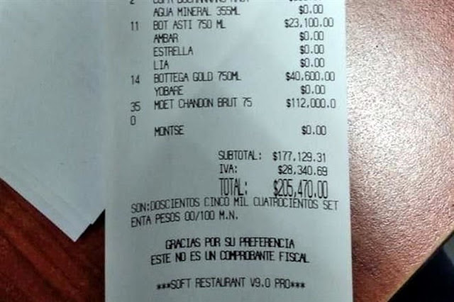 Detienen a dos sujetos por no pagar 205 mil pesos en table dance