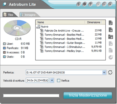 programma masterizza divx dvd