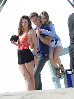 Bella Thorne, Nash Grier and Halston Sage on the set of You Get Me (1)