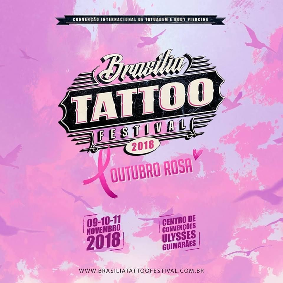 Outubro Rosa na 5ª edição do Brasília Tatoo Festival