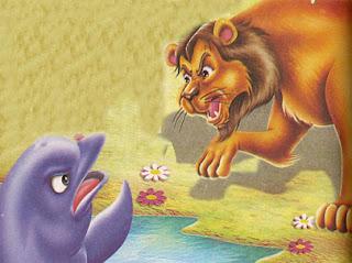 El León y el Delfín fabula