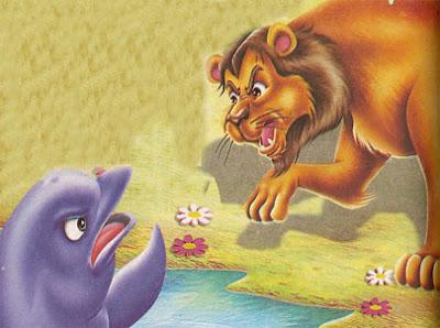 fabula el leon y el delfin