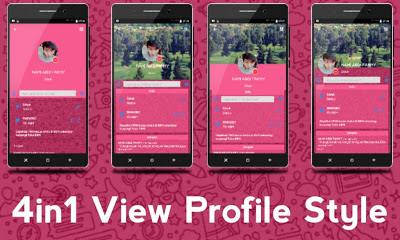 BBM iMessenger Cute PINK Theme v3.0.1.25 MOD Apk Terbaru BBM Pink New Style