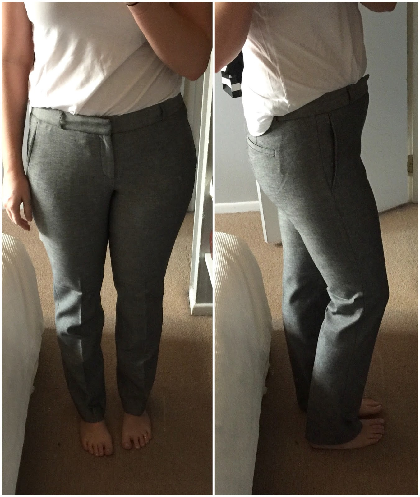 Ryan-Fit Gray Slim-Straight Pant