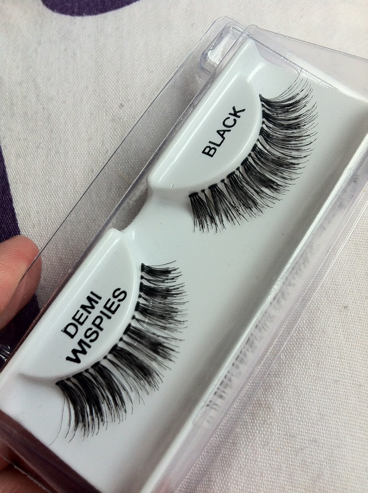 f17339809c4 These Demi Wispies lashes are my personal faves, as they have the invisible  band that sits just along your natural lash line, and they are virtually ...