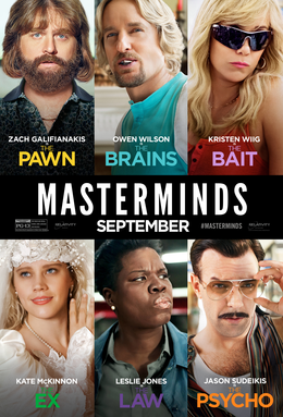 Masterminds 2016 Eng 720p BRRip 450mb HEVC x265 hollywood movie Masterminds 2016 bluray brrip hd rip dvd rip web rip 720p hevc movie 300mb compressed small size including english subtitles free download or watch online at world4ufree.ws