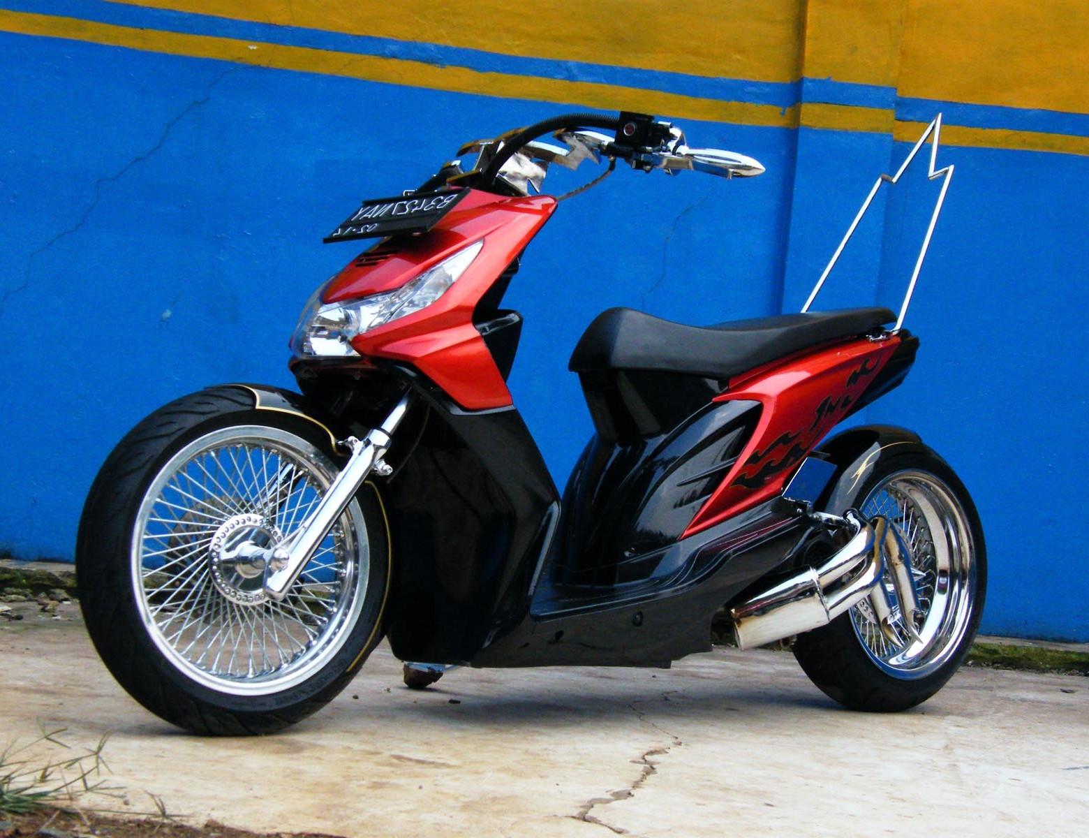 Download Koleksi 98 Modif Honda Beat Nungging Terbaru Janur Modifikasi