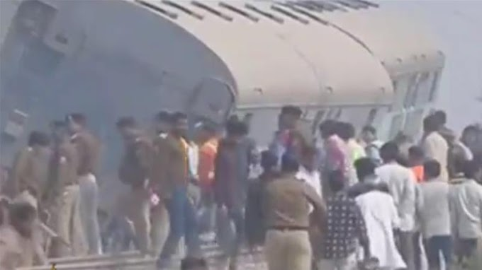 Almost 100 people killed in India train derailment