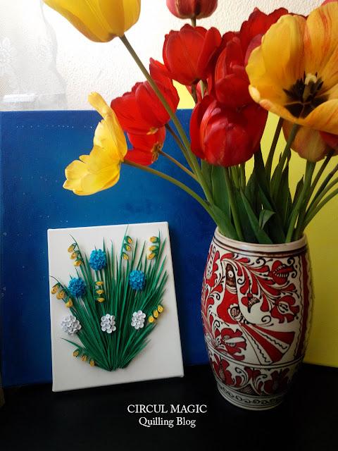 Circul Magic Quilling Blog Tablou Flori de primavara
