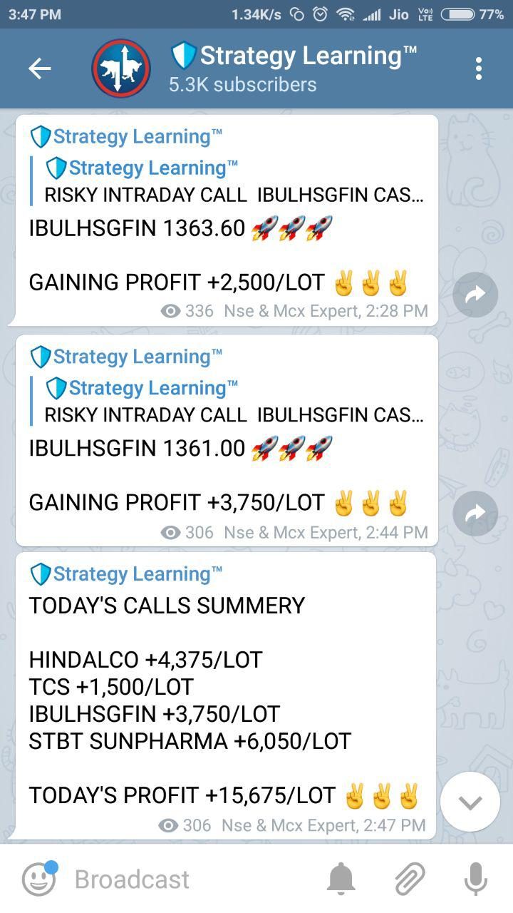 Telegram report channel
