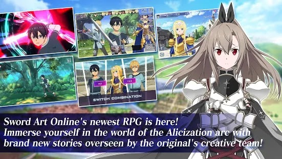 Sword Art Online Alicization Rising Steel Apk Free on Android Game Download