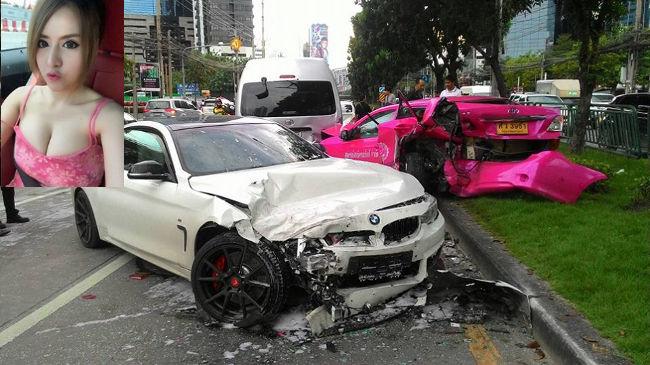 Авария с участием БМВ в Бангкоке
