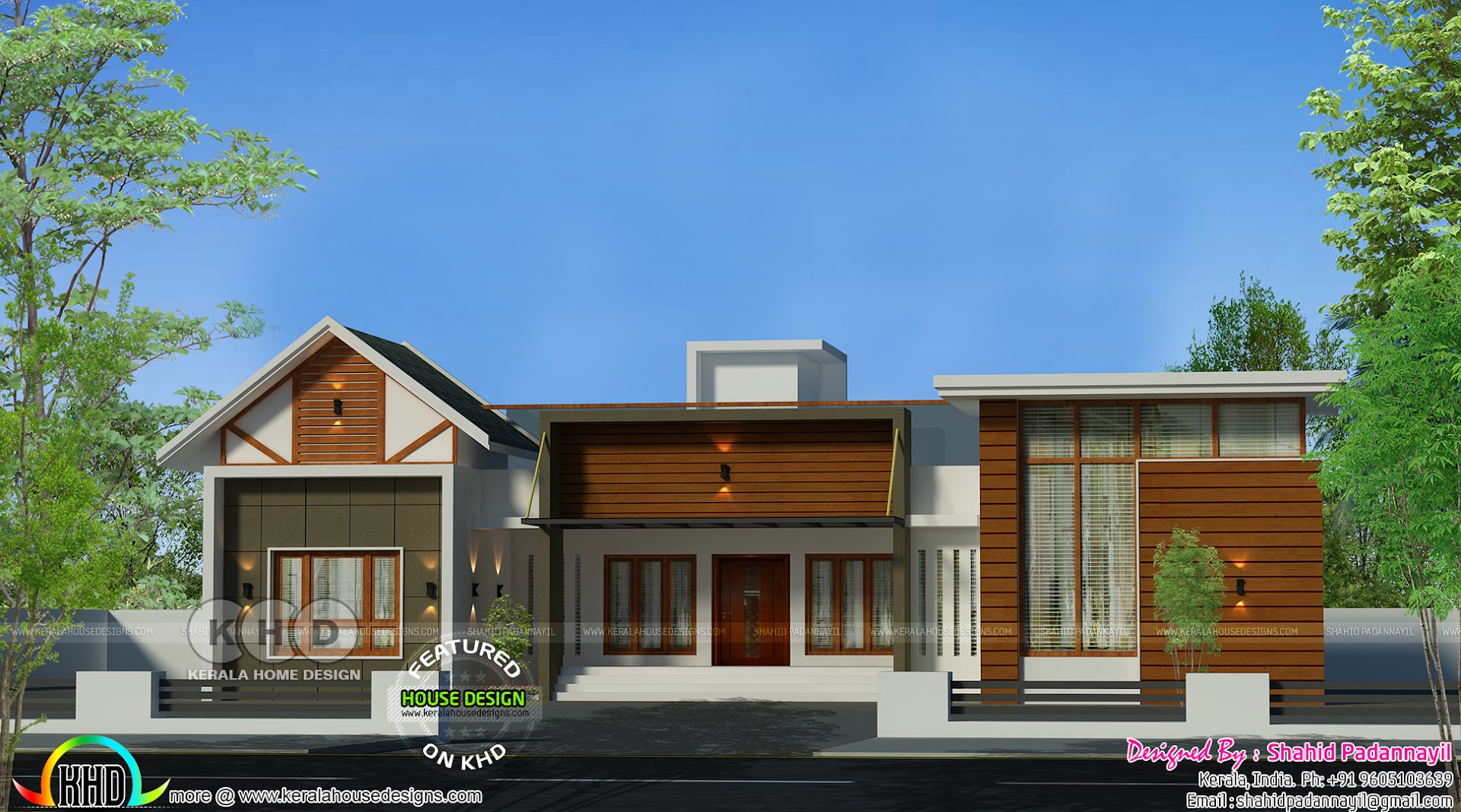 4 Bedroom Mixed Roof Home Part - 19: Mixed Roof Modern 4 Bedroom Single Storied Home