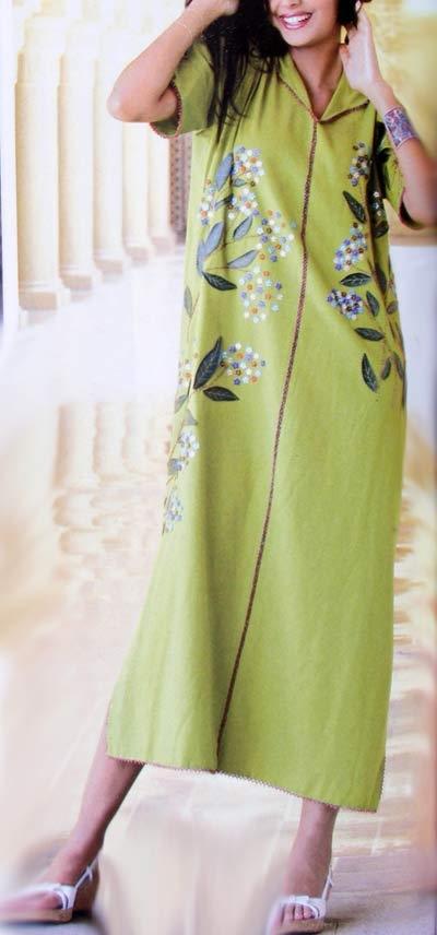 Djellaba Marocain brodée