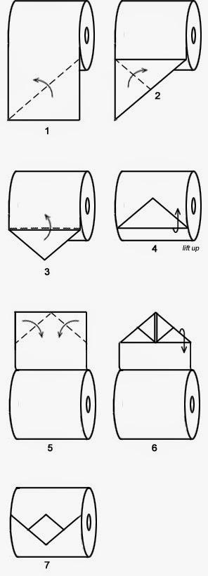 """Оригами """"Алмаз"""" из туалетной бумаги"""