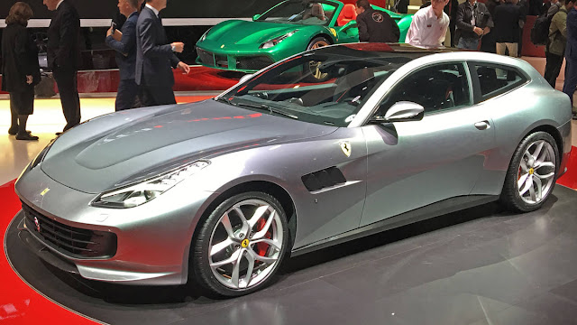 Ferrari GTC4Lusso T with V8 Engine Performance front view